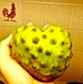 Heart-shaped fruit called Cherimoya: Resembles a banana in it's flavor